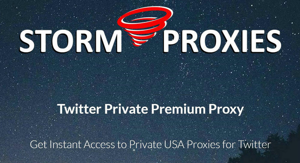 Premium Stormproxies Twitter Private Premium Proxy