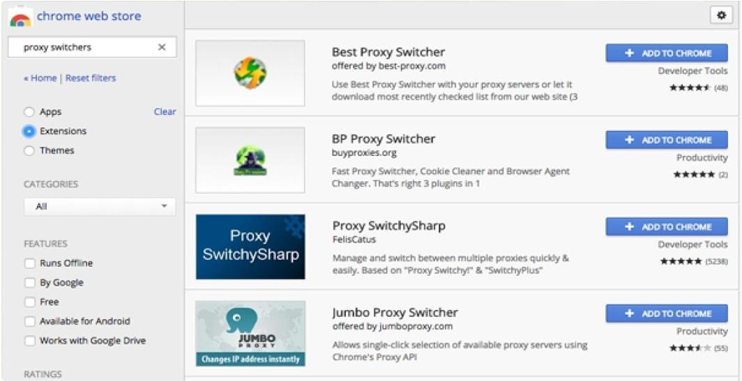 Proxy Switchers