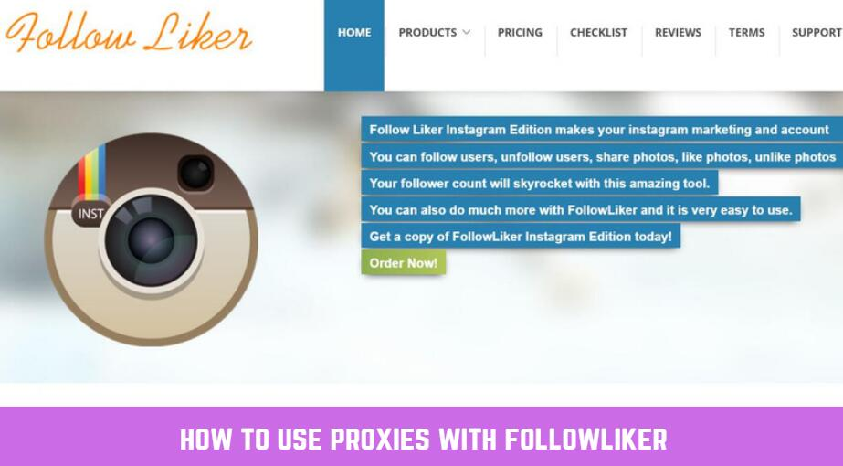 how to use proxies with followliker