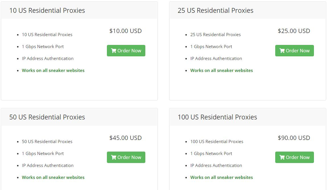 icedoutproxies US residential proxies pricing