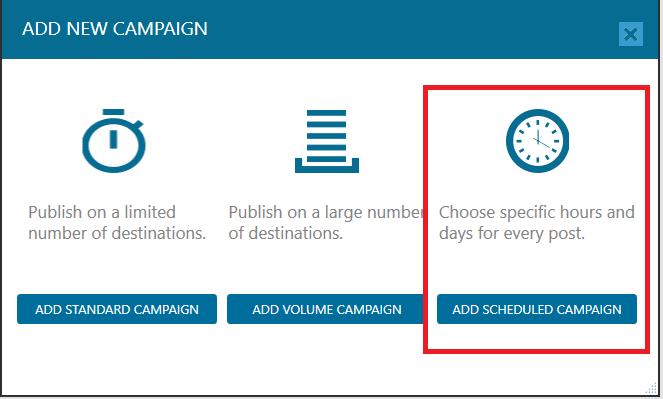 Add Schedule Campaign