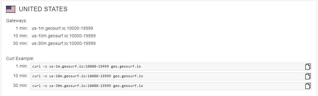 gateways of GeoSurf Overview