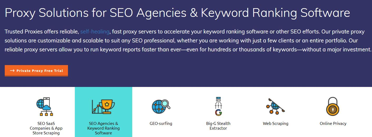 trusted private proxies for SEO