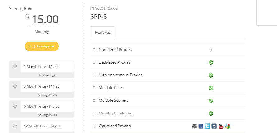 SSLPrivateProxy Expensive features