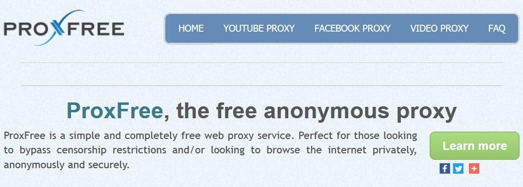 Proxfree Youtube Proxy