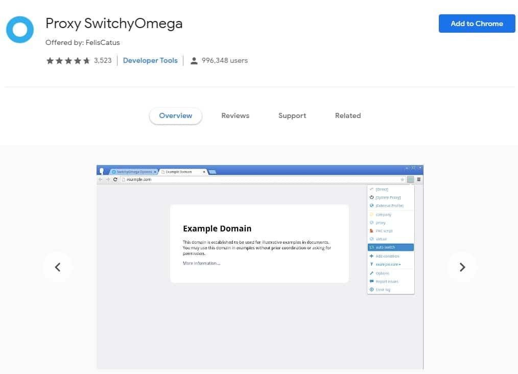 Proxy SwitchyOmega