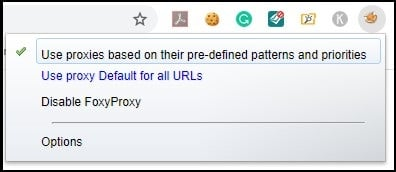 list of extension for foxyproxy