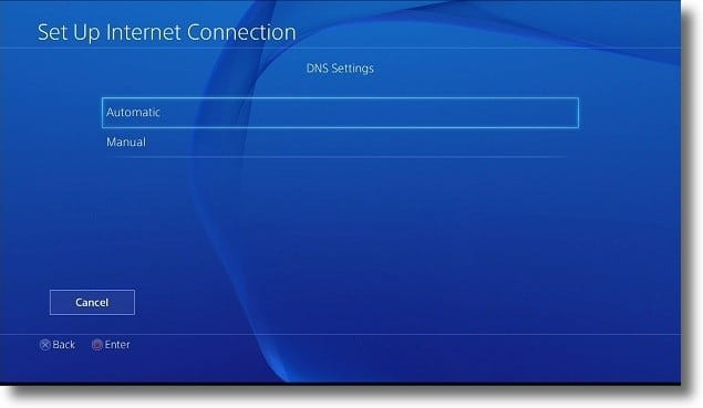 PS4 Domain Name System