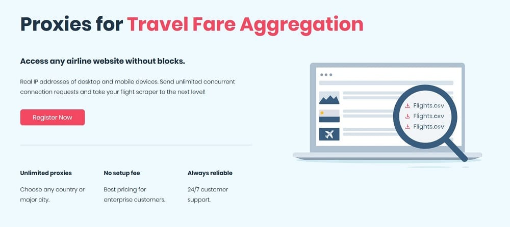 Smartproxy Travel Fare Aggregation