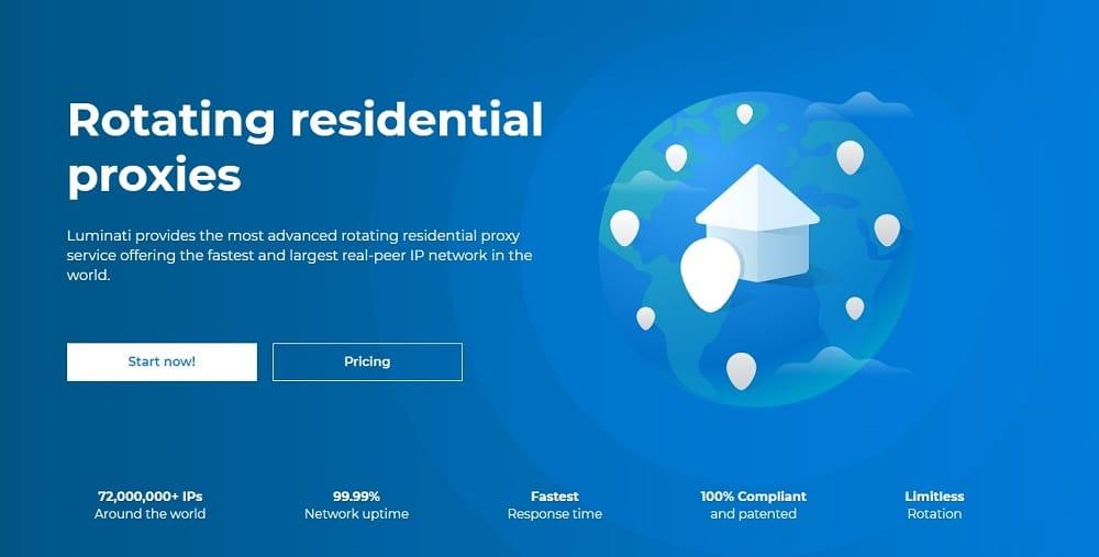 Luminati rotating residential proxy