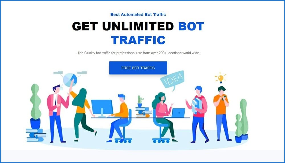 Traffic Creator homepage