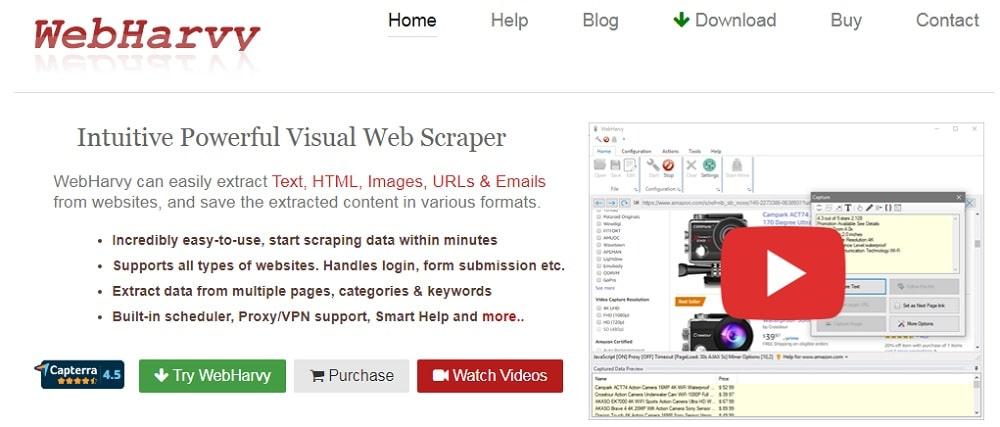 WebHarvy Best Scrapers