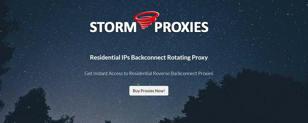 Stormproxies residential proxies services