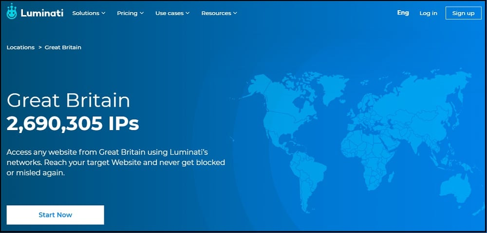 Luminati Location in UK