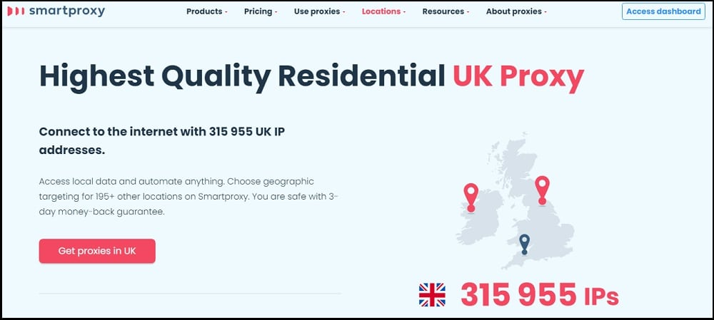 Smart Proxy Location in UK