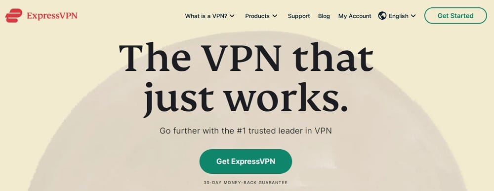 ExpressVPN Home Page