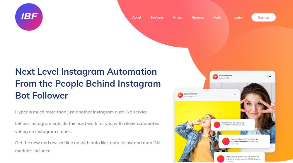 Instagram Bot Follower Home Image