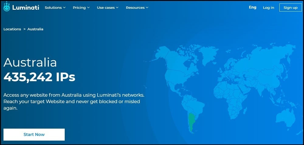 Luminati Proxies location of Australia