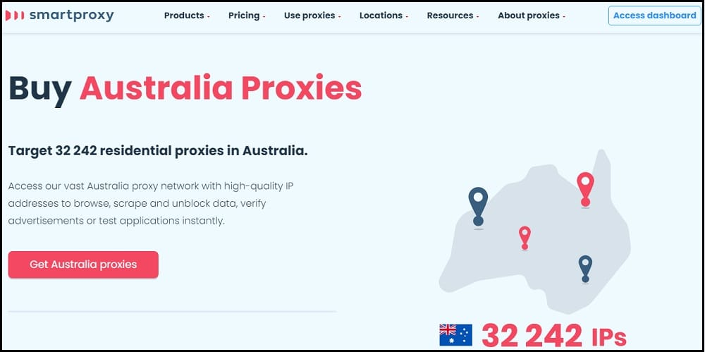 SmartProxy location of Australia