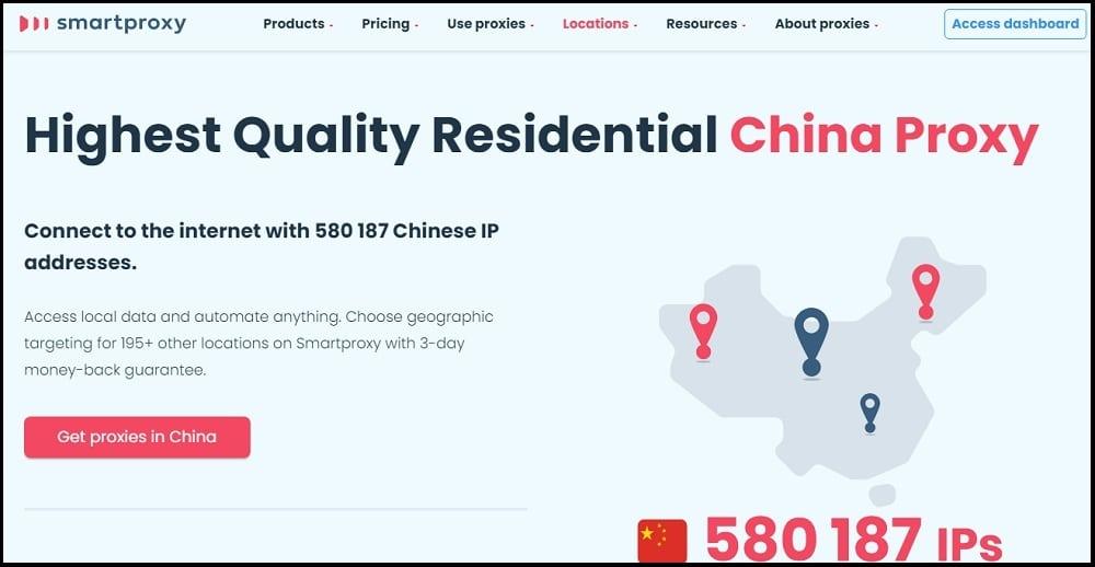 Smartproxy Location of China