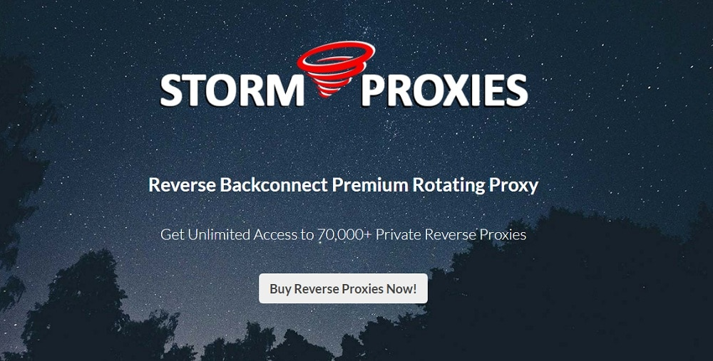 Storm Proxies Reverse Backconnect Premium Rotating Proxy