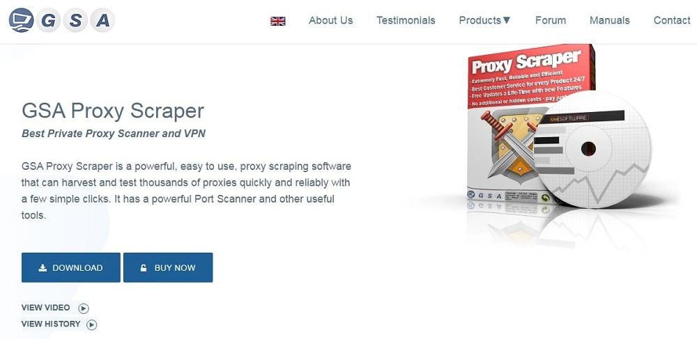 Gsa Proxy Scraper Homepage