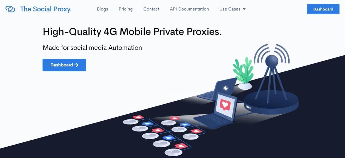 SocialProxy homepage