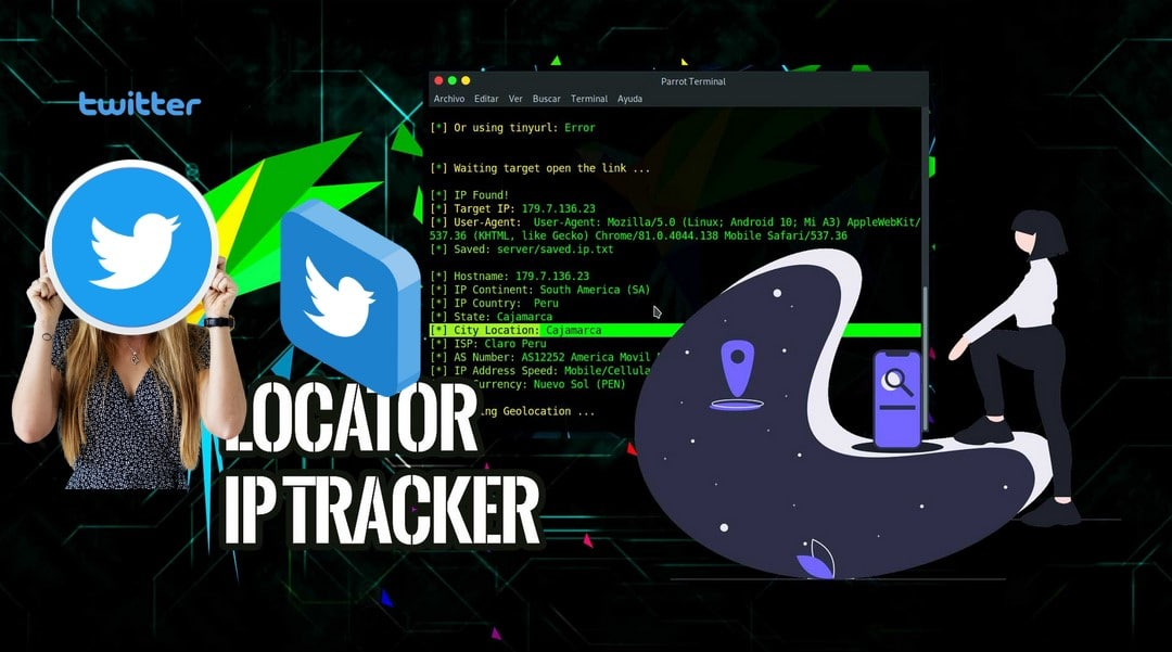 Custom IP Logger for twitter