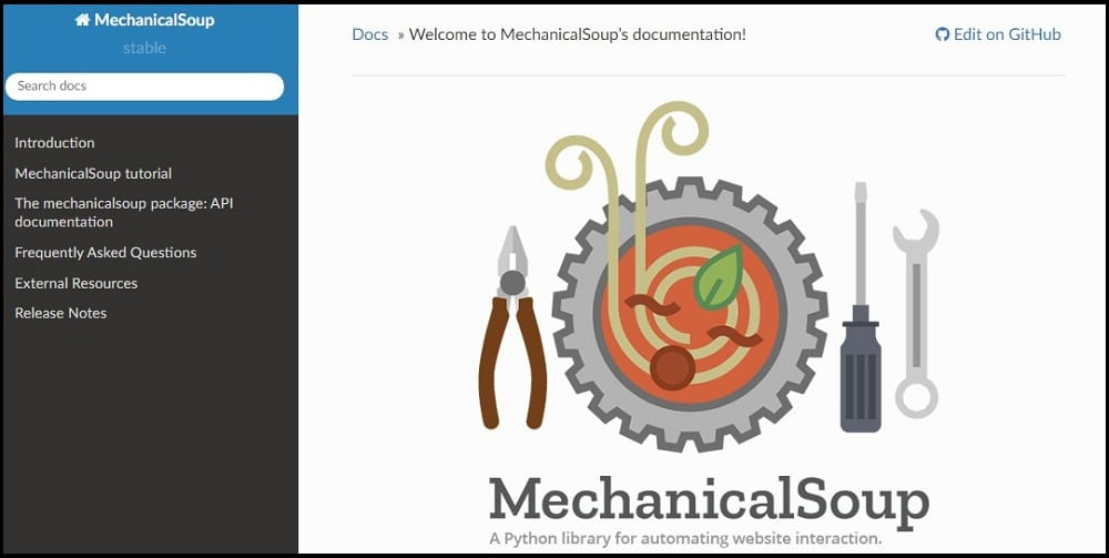 Mechanical Soup Homepage
