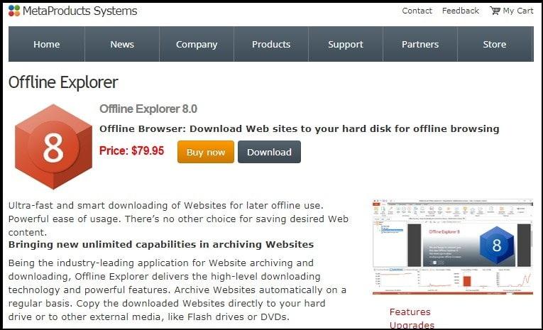 Offline Explorer Homepage
