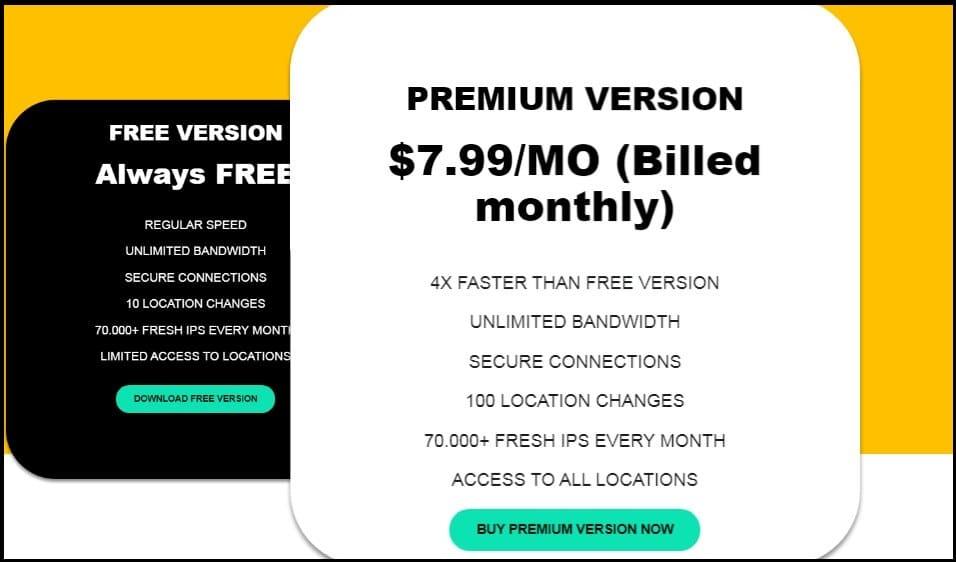 Pricing of Tuxler VPN