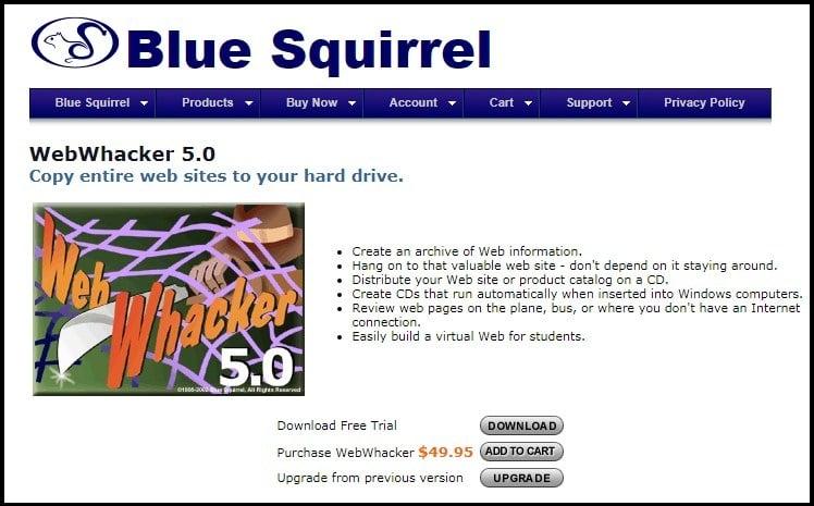 Web Whacker Homepage