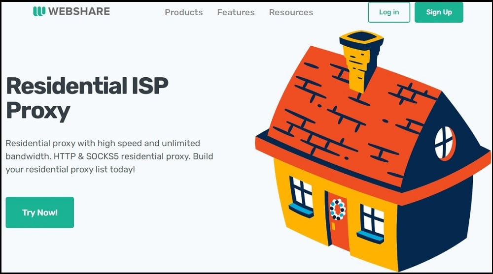 Webshare Residential Homepage