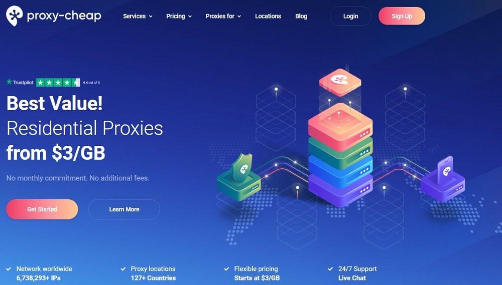 Proxycheap Homepage