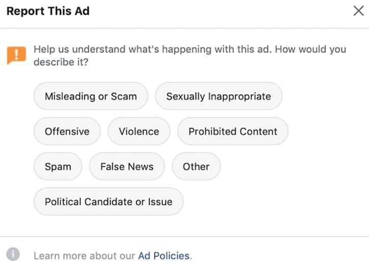Facebook ads Report