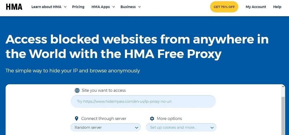 Hma Proxy Homepage
