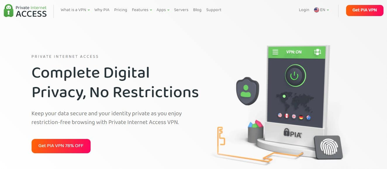 Private Internet Access Homepages