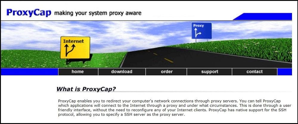 Proxy Cap Homepage