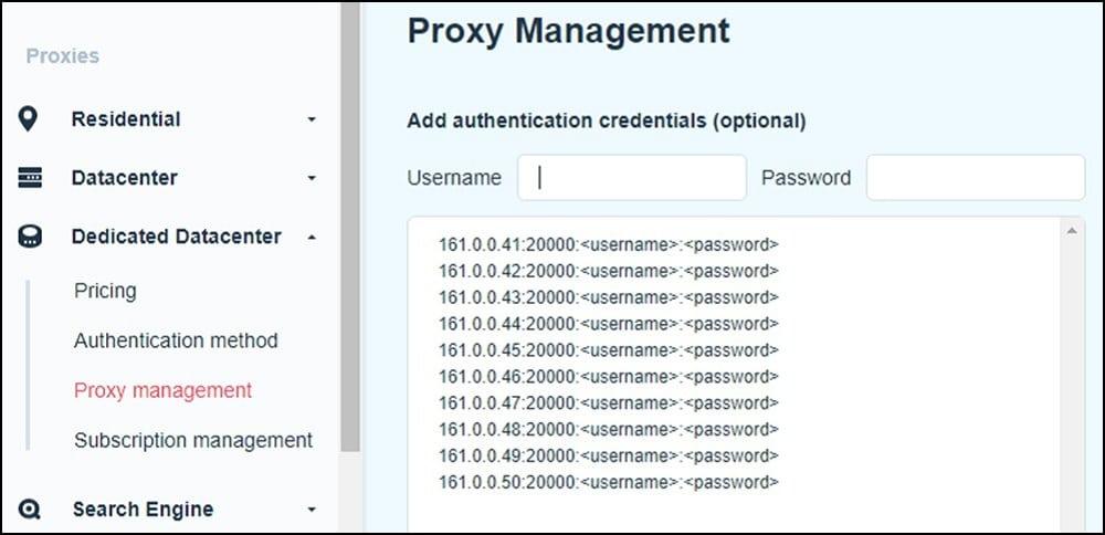 Smart Proxy Management Authentication
